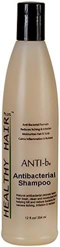ANTI-b Antibacterial Shampoo (12oz) Antimicrobial/Antifungal Formula that Reduces Bacteria - Sulfate Free Formula