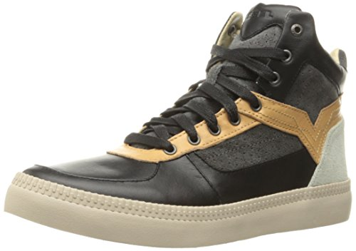 Diesel Mens V Is For S-Spaarrk Mid Fashion Sneaker Black/Cuoio KCIut3q