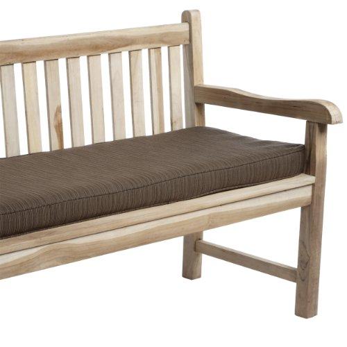 Mozaic Company Sunbrella Indoor/ Outdoor 60 by 19-inch Corded Bench Cushion, Dupione Walnut