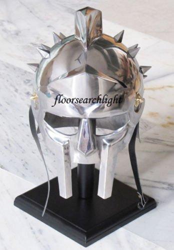 REPLICA MUSEUM Medieval Maximus Gladiator Helmet Roman Greek Spartan Armor Movie Replica Costum -