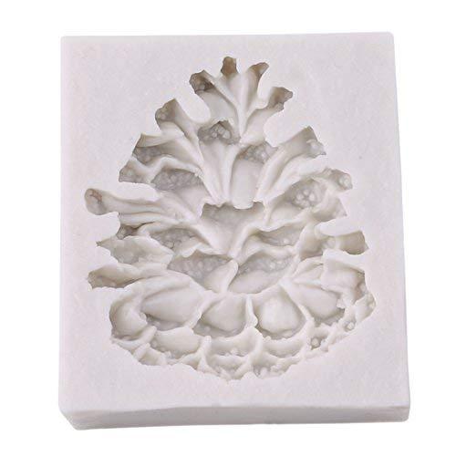 VWH 1 Piece Pine Cones Sugarcraft Silicone Mold Fondant Cake Mold Chocolate Decorating Tool