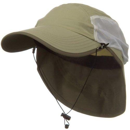 Juniper UV 50+ Talson Short Flap Cap - Khaki