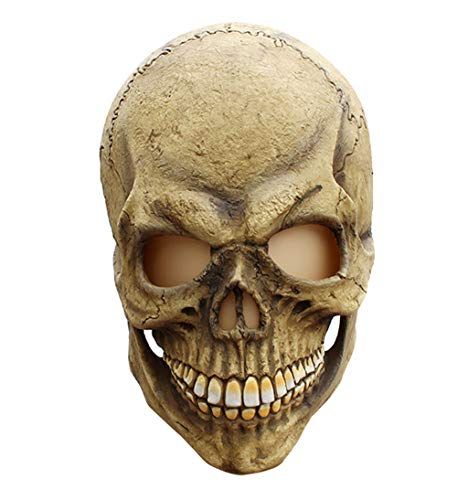 NYQ-MJ Skull-Halloween Novelty Latex Rubber Creepy Zombie Horror