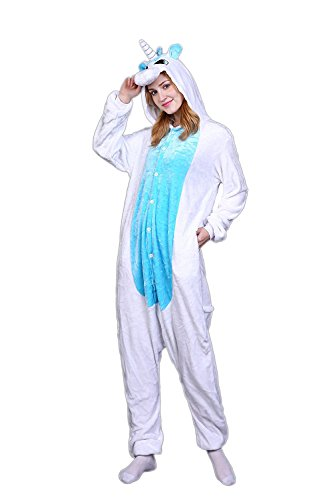 70's Show Costumes (MerryJuly Unisex Adult Unicorn Onesie Pajamas Kigurumi Cosplay Costumes Animal Outfit (XL(For Height:178~188CM/70