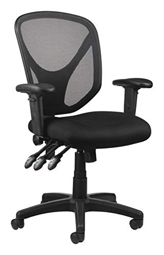Multifunction Office Chair - Realspace MFTC 200 Multifunction Ergonomic Super Task Chair, Black