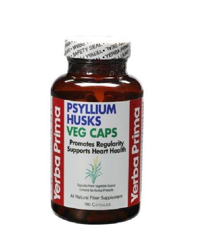 Yerba Prima Psyllium Husks, 180  Veg Capsules (180 Capsules Organic Psyllium)
