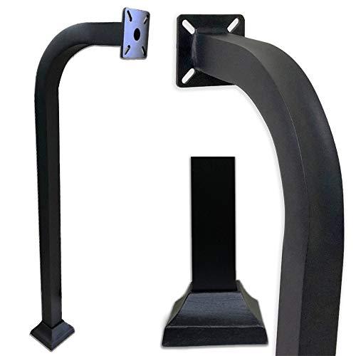 Aluminum Gooseneck Pedestal Keypad Stand Access Control Pedestal mounts gate keypad mounting Post