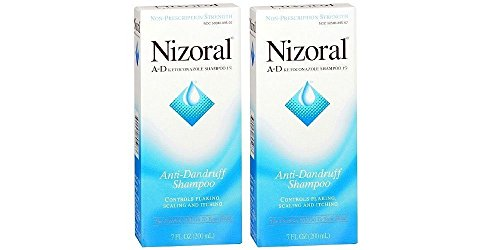 Price comparison product image Nizoral A-D Anti-Dandruff Shampoo, 7 Ounce (Pack of 2)
