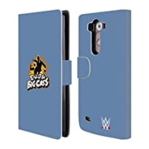 Official WWE Action Silhouette Enzo And Big Cass Leather Book Wallet Case Cover For LG Nexus 5