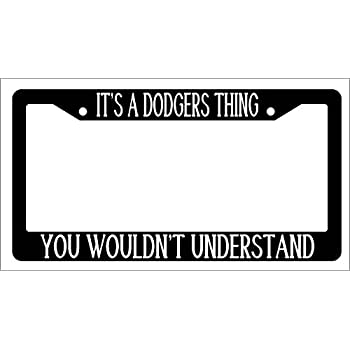 Chrome License Plate Frame IT/'S A RAIDERS THING YOU WOULDN/'T UNDERSTAND Auto