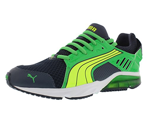 Fluorescent Yellow Green (PUMA Men's Powertech Blaze Met Nm Running Shoe,Ombre Blue/Island Green/Fluorescent Yellow,13 M US)