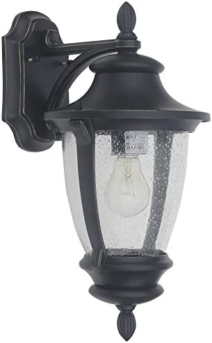 Home Decorators Collection Wilkerson 1-Light Black Outdoor Wall Mount