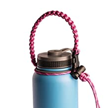 Hydro Flask Paracord Handle Survival Strap- Fits Hydro Flask, Kleen Kanteen & Most Wide Mouth Stainless Steel Water Bottles- Camping, Hiking, Sports & Outdoor Water Bottle Carrier