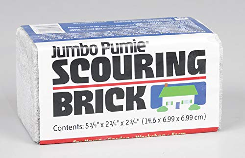 "US Pumice, Set of 3, Jumbo Pumie Scouring Brick, Hand Safe, 5.75"" x 2.75"" x 2.75"", Pack of 3 from U.S. Pumice"