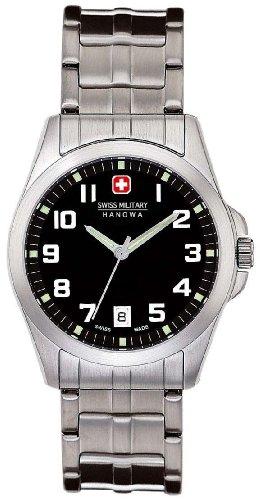 (Swiss Military Hanowa Men's 06-5030-04-007 Tomax 316L Stainless Steel Black Dial Watch )
