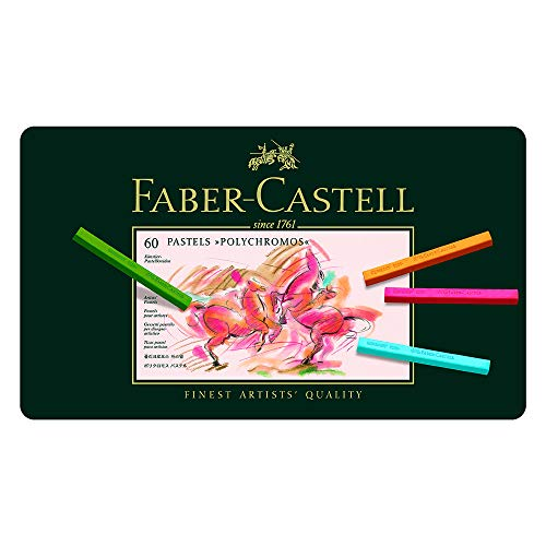 Faber-castell Polychromos Artists Pastels Tin Of 60 for sale  Delivered anywhere in USA