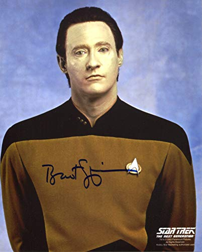 Brent Spiner Signed/Autographed 8x10 Glossy Star Trek Photo As Data. Includes Fanexpo Fanexpo Certificate of Authenticity and Proof. Entertainment Autograph Original. from Star League Sports