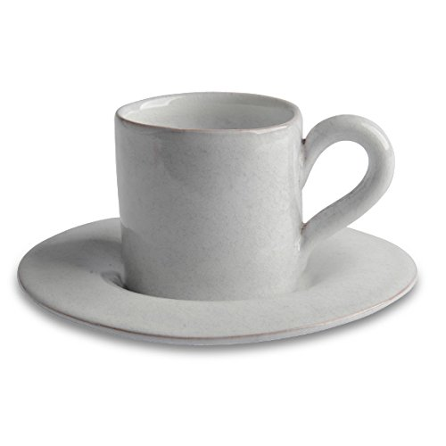 Italian Dinnerware - Espresso cup and saucer - Handmade in Italy from our Villa Medici Collection