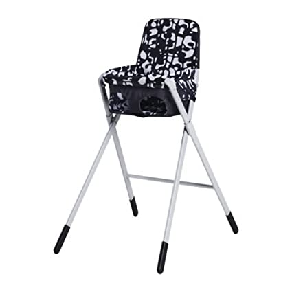 Enjoyable Ikea Spoling Highchair With Safety Belt Black White Caraccident5 Cool Chair Designs And Ideas Caraccident5Info