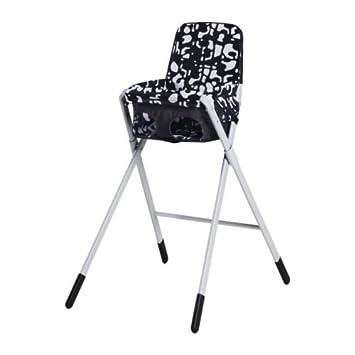 Kinderhochstuhl Ikea ikea spoling hochstuhl mit sicherheitsgurt schwarz weiß amazon de