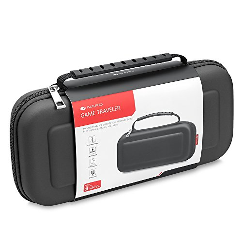 Price comparison product image Carrying Case for Nintendo Switch iVAPO Heavy Duty Travel Case EVA Tough Pouch Bag for Nintendo Switch (2017)-Black