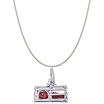 Rembrandt Sterling Silver Special Grandma Charm on a Sterling Silver Rope Chain Necklace