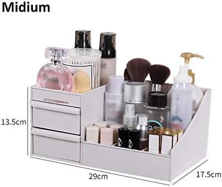 BZM-ZM 新聞ラックデスクトップ新聞ラック、多機能オフィス用品オーガナイザー化粧品香水3引き出し付きケース化粧品新聞ラック(カラー:B1、サイズ:ミディアム)