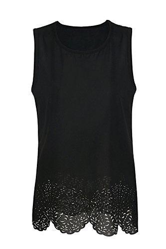 Blouse Chic Femme Fluide Noir Top Chemise Sans Classique Casual Tenxin Manches XZq606