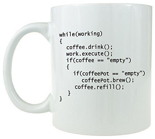 Coffee++ Program - Ceramic Coffee Mug - Makes a Great Gift for Programmers under $15(White)