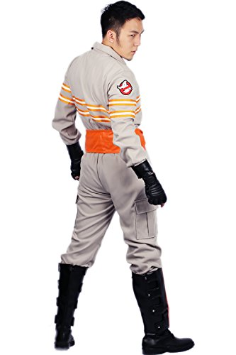 Ghostbusters Costume Deluxe Jumpsuit Embroidery Logo Cotton Halloween Cosplay Xcoser M by xcoser (Image #3)