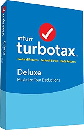TurboTax Deluxe 2017 Fed + Efile + State PC/MAC Disc [Amazon Exclusive]