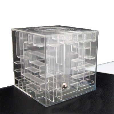 3d Clear Plastic Money Bank Saving Coin Saver Box Iq Test Toy