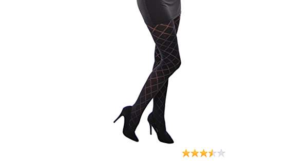 Hasha beautiful semi opaque patterned tights 40 Denier by Adrian