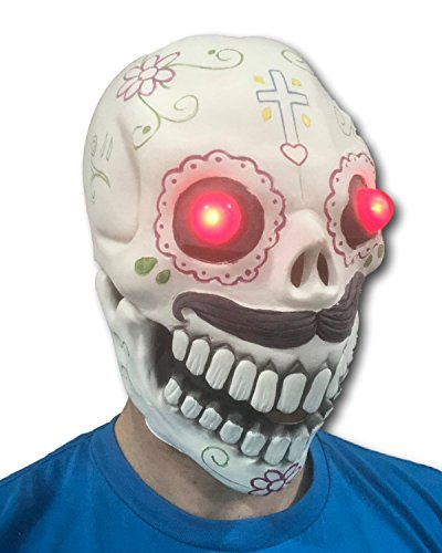 Led Bone Tombstone Skull Rip - Rubber Johnnies LED Lightup Day of