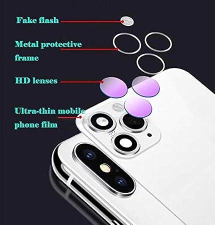 FTYSXP Lente de la c/ámara modificada Segundos Cambiar la Cubierta para iPhone X XS Cambiar a iPhone 11 Pro Lente Falsa integrada Protecci/ón Trasera Negro 5.8 en