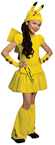 Anime Costumes For Girls (Rubies Pokemon Girl Pikachu Costume Dress,)