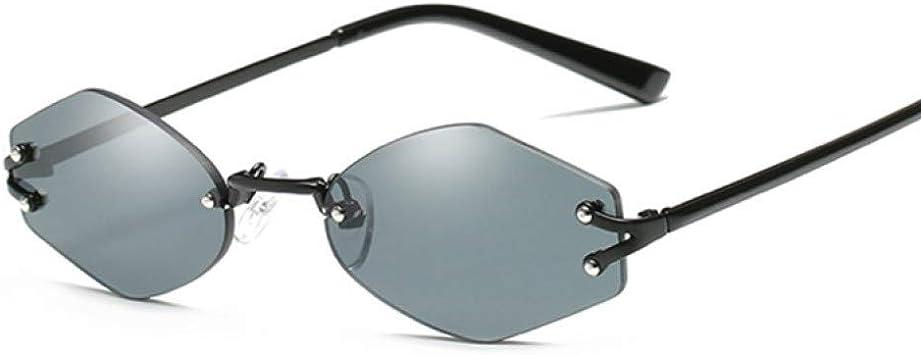 DWSYDA Gafas de Sol sin Montura Vintage Mujer Espejo Gafas de ...