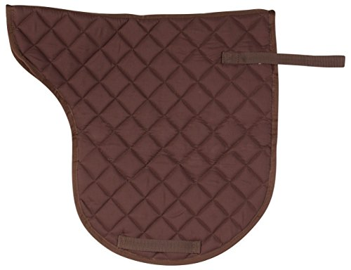 Brown English Saddle (CONTOURED BROWN ALL PURPOSE COTTON QUILTED SHAPED ENGLISH HORSE TACK SADDLE PAD SHOCK ABSORBING (Horse))