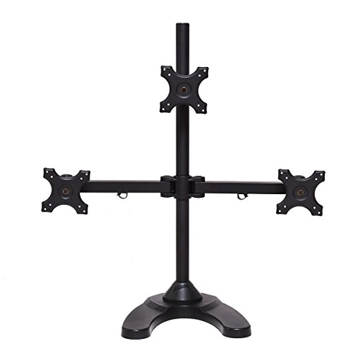 Tangkula Monitor Stand Freestanding for LCD Flat Screen Monitor V Stand (Triple)