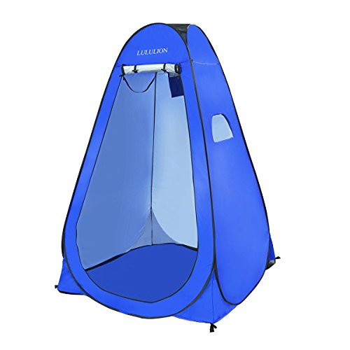 iBaseToy Anti-Peeping Pop up Changing Tent Room, Camping Beach Toilet Shower Tent Portable Outdoor Privacy Shelter Dressing Room with Carrying Bag, 6.25Ft