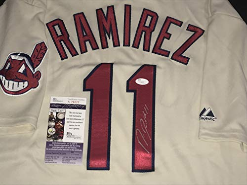 nd Indians Autographed Signed Authentic Jersey JSA COA w/picture ()