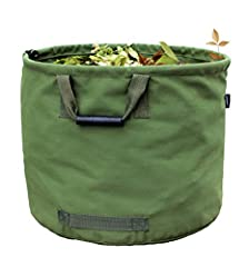 This leaf bag is multipurpose. It will help you clean up your garden or yard, harvest the fruits and vegetables, organize your items whether in your trip or in your home. The garden bag is a reusable and heavy duty.  This lawn bag can withsta...