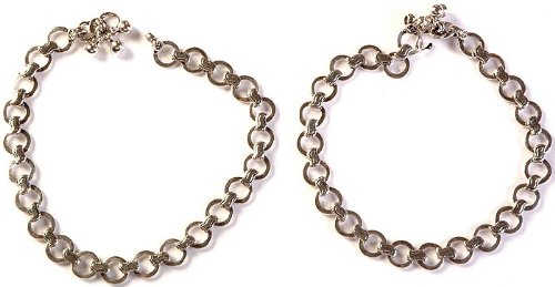 Sterling Anklets (Price Per Pair) - Sterling Silver