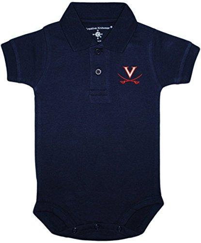 University of Virginia Cavaliers Newborn Polo Bodysuit, Navy, 3-6 Months