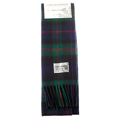 Murray Of Atholl Tartan (Clans Of Scotland Scottish Tartan Cashmere Scarf Murray Of Atholl (One Size))