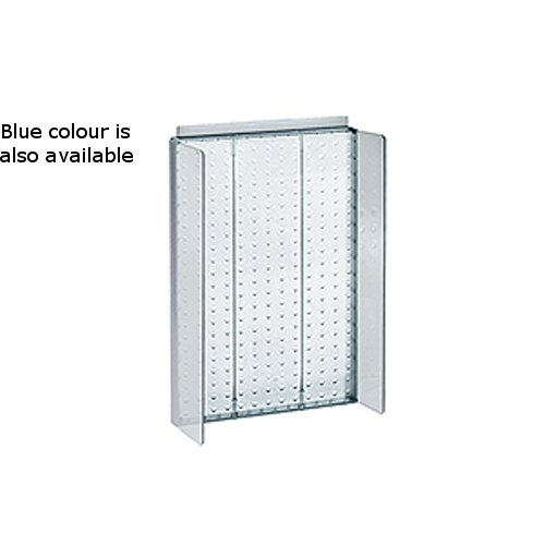 New Retails Blue Pegboard Powerwing Display 13.5''w x 22''high by Pegboard Powerwing Display