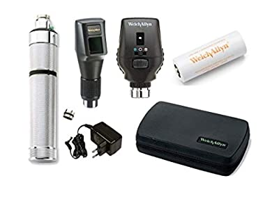 Original Welch Allyn Combined 3.5V Streak RETINOSCOPE #18342 CO-AXIAL Ophthalmoscope- 11772 Rechargeable Complete Set with Barcode