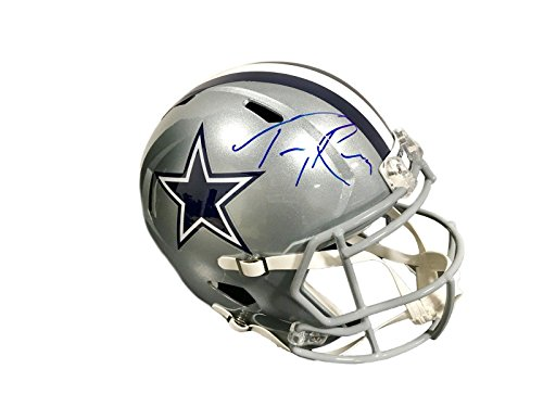 (Tony Romo Autographed Helmet - Full Size Speed - JSA Certified - Autographed NFL Helmets)
