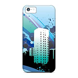 High Impact Dirt/shock Proof Case Cover For Iphone 5c (vector City Wide)