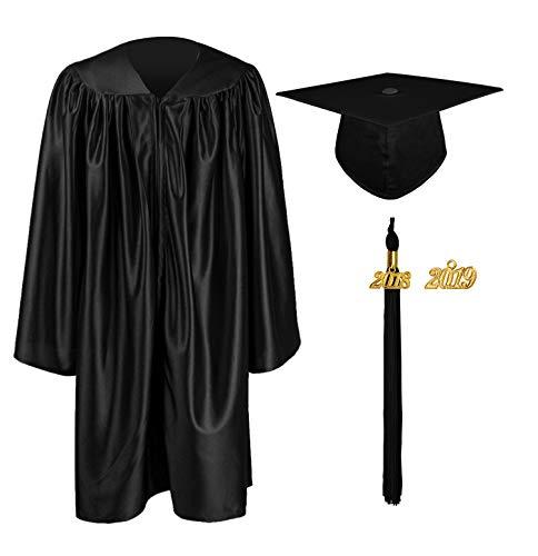 GraduationMall Kindergarten Graduation Gown Cap Set with 2018 Tassel (2019 optional) Black ()